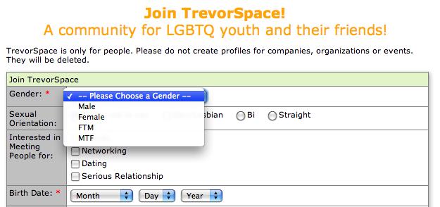 Trevor Space online registration form