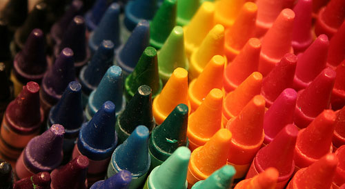 Where does one color end, and the other begin?
