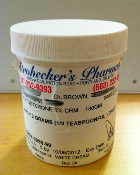 Testosterone in Compound Cream