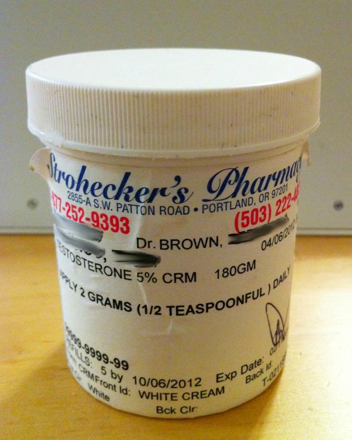 Testosterone in Compound Cream