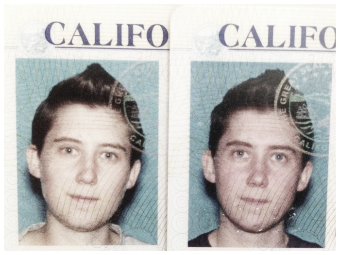 """Before & After """"sex change"""" on CA Driver's license"""
