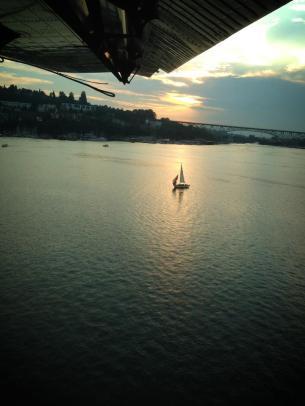 Landing in Seattle by Hydroplane