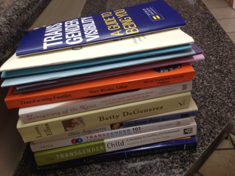 Transgender resource books for parents - I tried them all.