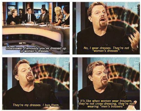 Eddie Izzard on wearing dresses