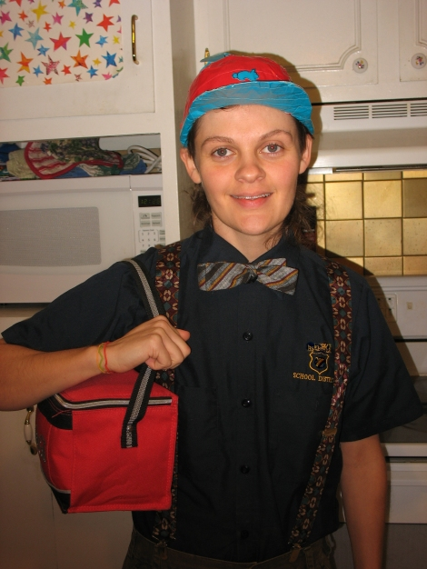going to work, halloween 2010